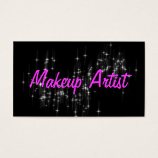 Sparkle Makeup Artist Cosmetologist Nails Beauty Business Card