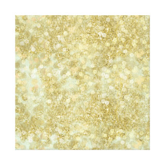 Sparkle Mint Gold Bokeh Canvas Print