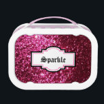 "Sparkle N Shine Pink Glitter Lunchbox<br><div class=""desc"">Sparkle N Shine Pink Glitter Lunchbox will make a fashion statement in the lunchroom.</div>"