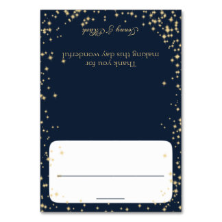 Sparkle Navy Blue Seating Card