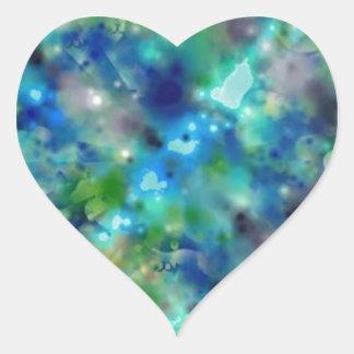 Sparkle Neon Cosmic Star Heart Sticker