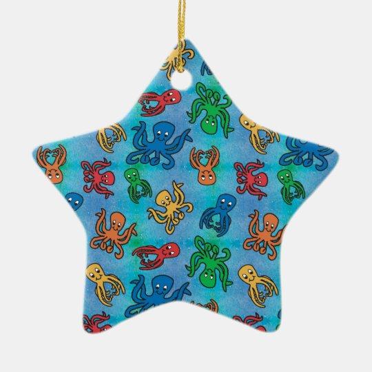 Sparkle Octopus Ceramic Ornament