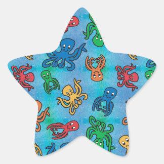 Sparkle Octopus Star Sticker