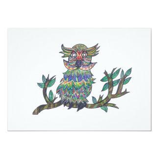 """Sparkle Owl 5"""" X 7"""" Invitation Card"""
