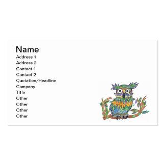 Sparkle Owl Business Card Template