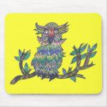 Sparkle Owl Mouse Pad