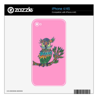 Sparkle Owl on my skin Decal For iPhone 4