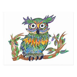 Sparkle Owl Postcard