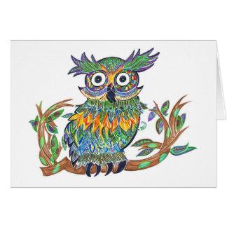 Sparkle Owl Stationery Note Card