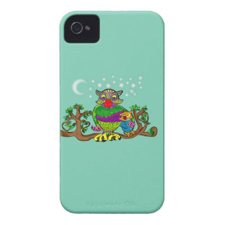 Sparkle Owl with Sparkle Baby iPhone 4 Case-Mate Case