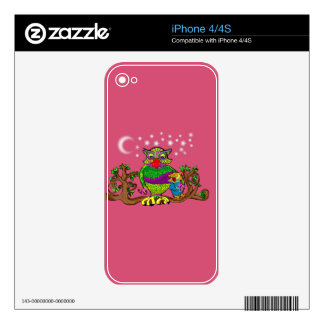 Sparkle Owl with Sparkle Baby Skin For iPhone 4S