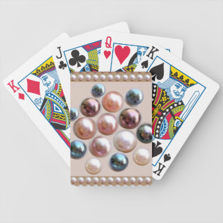 Sparkle Pearl Jewels Bicycle Playing Cards