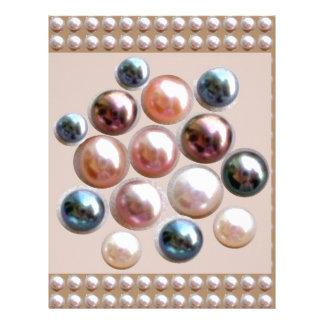 Sparkle Pearl Jewels Letterhead