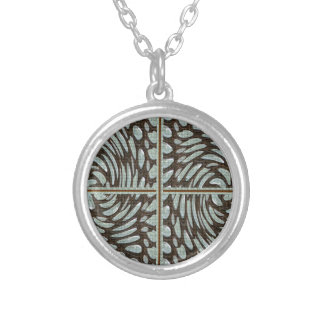 Sparkle Pearl Stone Pattern Art on Family Gifts Round Pendant Necklace