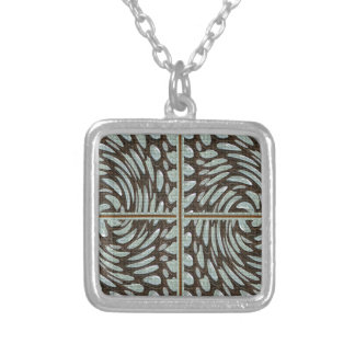 Sparkle Pearl Stone Pattern Art on Family Gifts Square Pendant Necklace