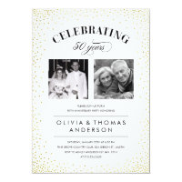 Sparkle Photo Wedding Anniversary Invitations