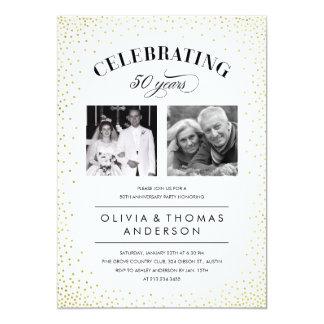 Sparkle Photo Wedding Anniversary Invitations