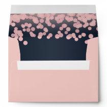 Sparkle Pink and Navy Blue Envelope