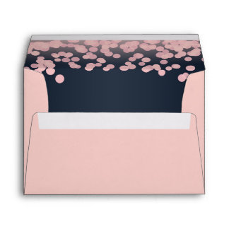 Sparkle Pink and Navy Blue Envelope
