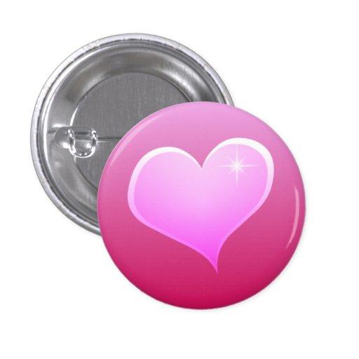 Sparkle Pink Heart Button