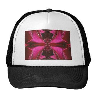 SPARKLE PINK ROSE FLOWER PETAL ART SHIRTS TRUCKER HAT