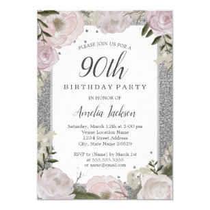 90th Birthday Party Invitations Announcements Zazzle