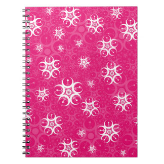 Sparkle Pink White Crop Circles Notebook