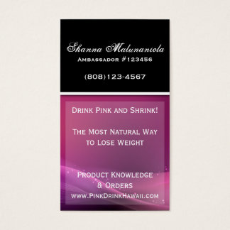 Sparkle Purple and Pink Business Card Template