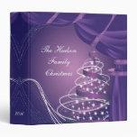 Sparkle Purple Christmas Tree Album Binder