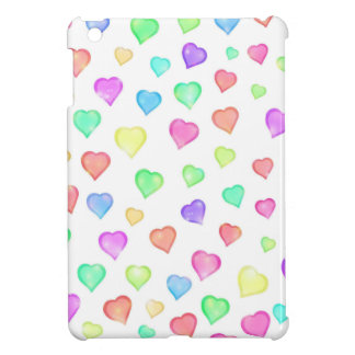 Sparkle Rainbow Hearts Pattern Case For The iPad Mini