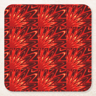 Sparkle Red Paper Coasters