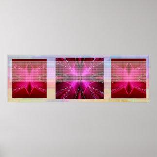 Sparkle RedRose PinkRose Petal Art Poster