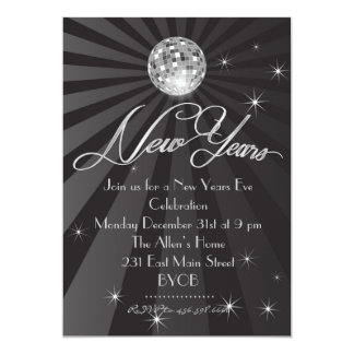"""Sparkle Ring in the New Years EVE Invitation 5"""" X 7"""" Invitation Card"""