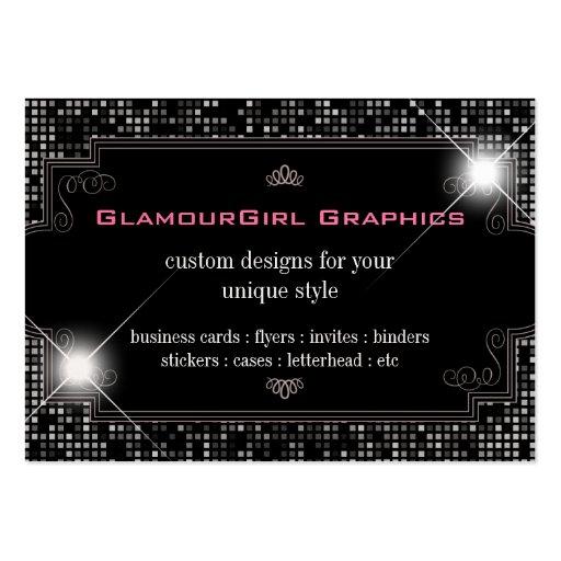 Sparkle & Shine Black Tile Business Card
