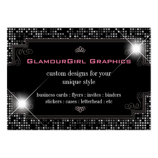 Black white business card templates chubby size for Business card size ad