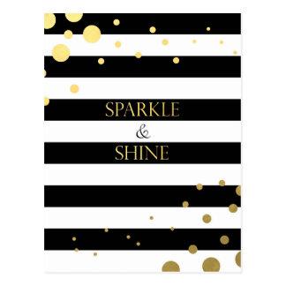 Sparkle & Shine Gold Postcard