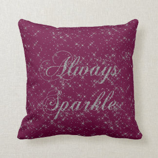 Throw Pillows With Sparkle : Silver Sparkle Pillows - Decorative & Throw Pillows Zazzle