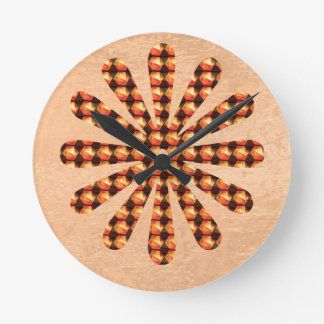 Sparkle Star Decoration : Goodluck Gifts Colorful Round Wall Clocks