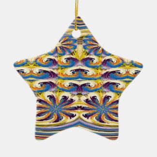 Sparkle Star Flower Floral Graphic Deco Art FUN Christmas Tree Ornament