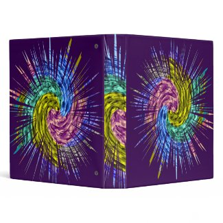 Sparkle Star Pattern binder