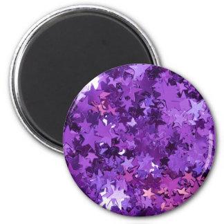 Sparkle Stars 2 Inch Round Magnet