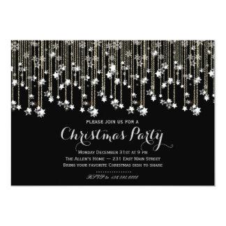 "Sparkle Stars Chrismas Invitation 5"" X 7"" Invitation Card"