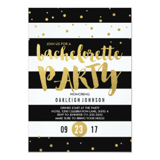 Sparkle | Stripe Bachelorette Party Invitation