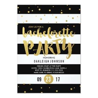 Sparkle | Stripe Bachelorette Party Invitation