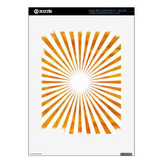 Sparkle Sun Chakra - Uses Sunflower Petal Colors iPad 3 Skin