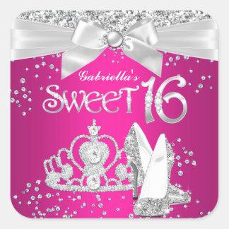 Sparkle Tiara Heels Sweet 16 Sticker
