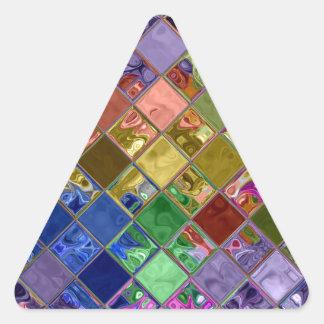 Sparkle Tiles Mosaic Art Triangle Sticker