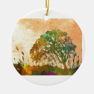 Sparkle Tree Ceramic Ornament
