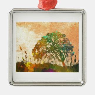 Sparkle Tree Metal Ornament
