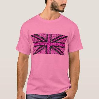 Sparkle UK Look Pink Black t-shirt pink
